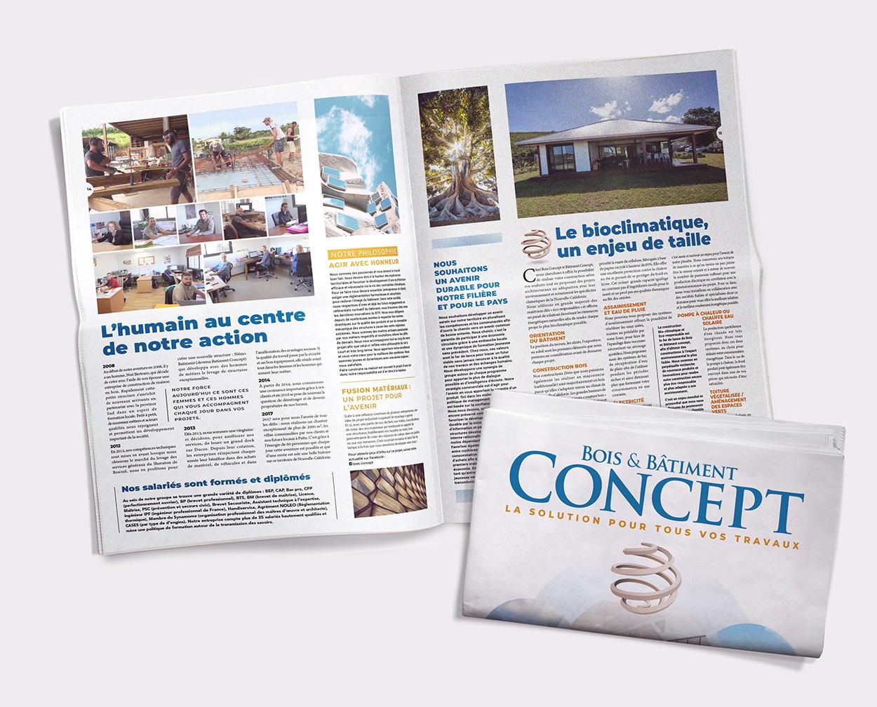 Agence Coup d'Ouest-Nouméa-édition-catalogue Bois Concept