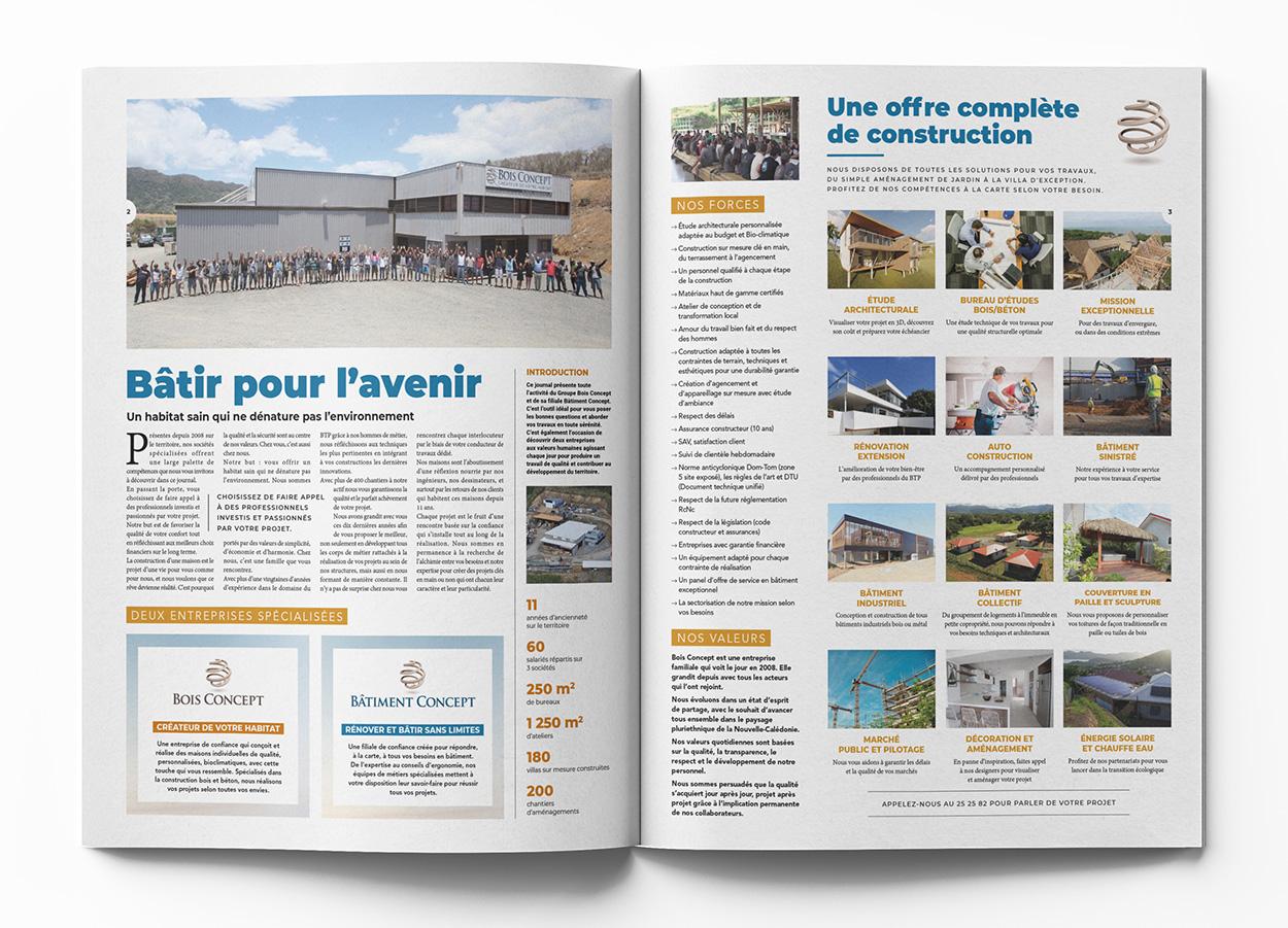 Agence Coup d'Ouest-Nouméa-édition-catalogue Bois Concept 2